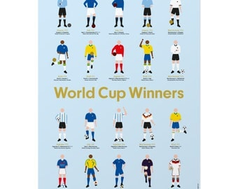 FIFA Football World Cup Winners Fine Art Print
