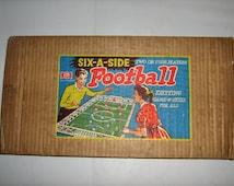 Super Rare  Vintage Six-A- Side Football In Original Box  /MEMsArtShop