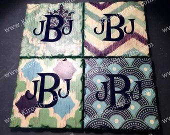 Monogrammed Coasters - Set of 4