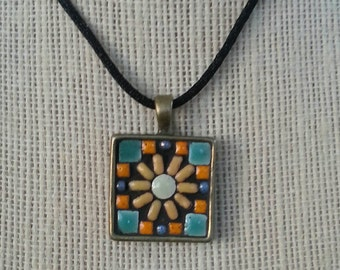 Handmade mosaic pendant / necklace