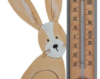 Woodland Rabbit Thermometer
