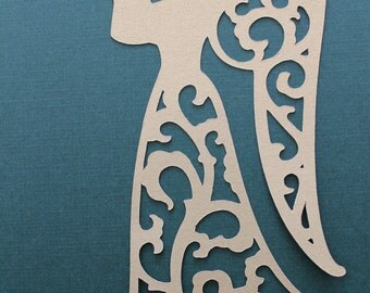 4 Elegant, Lacey, Gold Angel Diecuts,Christmas, Decorations, Scrapbooking, Cardmaking and Other Paper Crafts