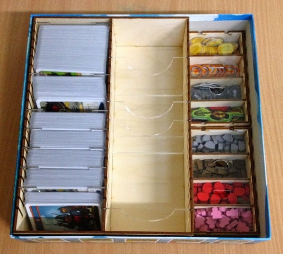 Imperial settlers board game wood insert to by for Board game storage solutions