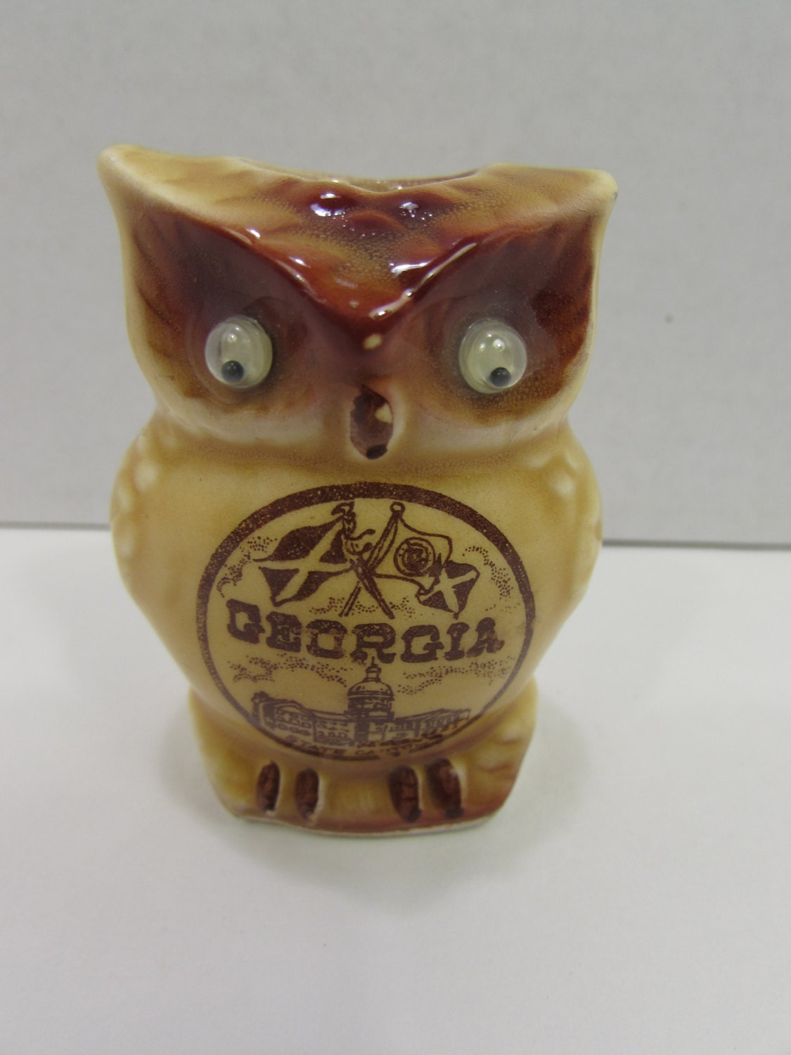 Vintage ceramic owl toothpick holder souvenir from by delraydude - Toothpick holder for purse ...