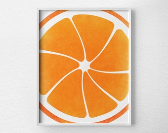 Orange Print, Citrus Print, Citrus Decor, Fruit Kitchen Art, Kitchen Decor, Kitchen Poster, Kitchen Print, Modern Decor, Orange Art, 0089