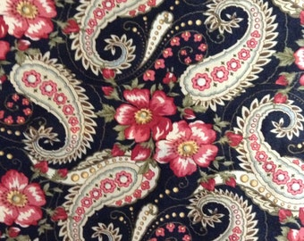 SALE - Half Yard of Fabric - Floral Paisley