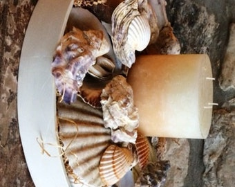 Rustic Platter with Candle for Seafood Lovers !