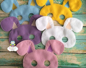 Felt Bunny Mask, Easter Bunny or Rabbit Mask