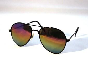 Mirror-Aviator New Vintage Sunglasses - Original Vintage - 1990 - New old stock