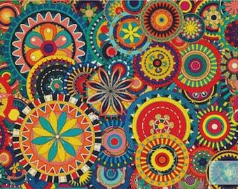 Colourful Circles PDF Cross Stitch Pattern
