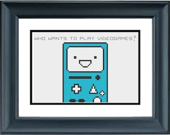 BMO - Who Wants to Play Video Games? - Adventure Time with Finn and Jake - PDF Cross-Stitch Pattern