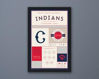 Cleveland Indians Stats Print
