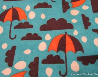 Flannel Fabric - Gloomy Day - 1 yard - 100% Cotton Flannel