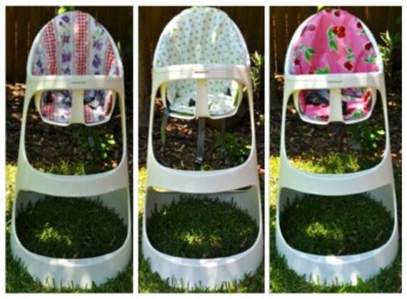 fait sur commande coussin r versible pour ikea chaise haute. Black Bedroom Furniture Sets. Home Design Ideas