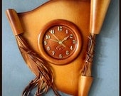 Large Handmade Wall Clock made from leather RRP AUD 149 Mother's  Day GIFT *Wholesale Prices*