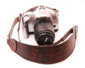 Custom personalized Leather Camera Strap, Doubles as a Hand Carry Strap