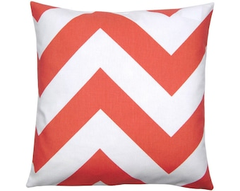 Cushion cover ZIPPY coral white 40 x 40 cm