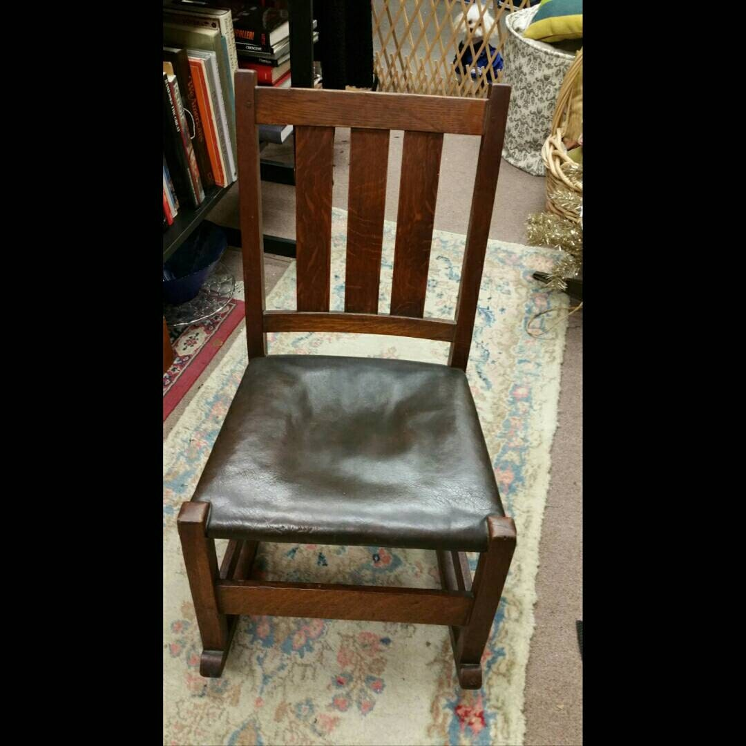 authentic antique stickley furniture small oak rocking chair