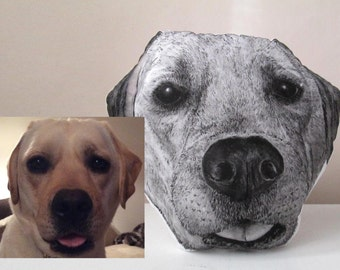 personalized dog pillow custom realistic portrait for dogs lovers hand painted cushion gift idea