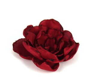 Flower brooches, Burgundy, flowers applications, flower, fabric flower clip flower brooch