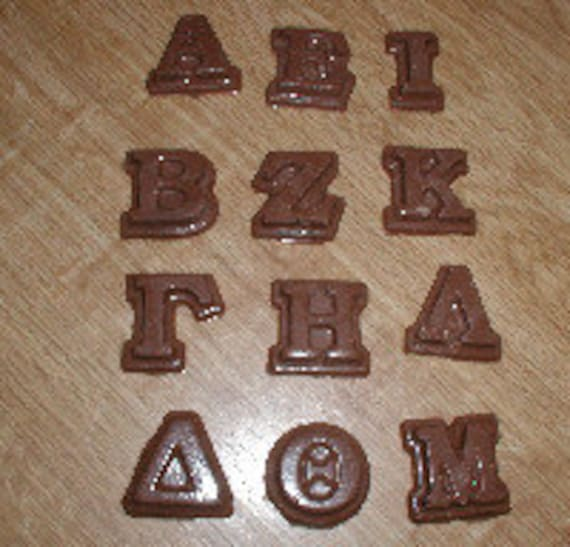 greek alphabet part 1 chocolate mold With greek letter chocolate molds