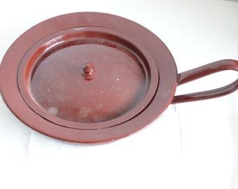 Brown Enamel Bed Pan