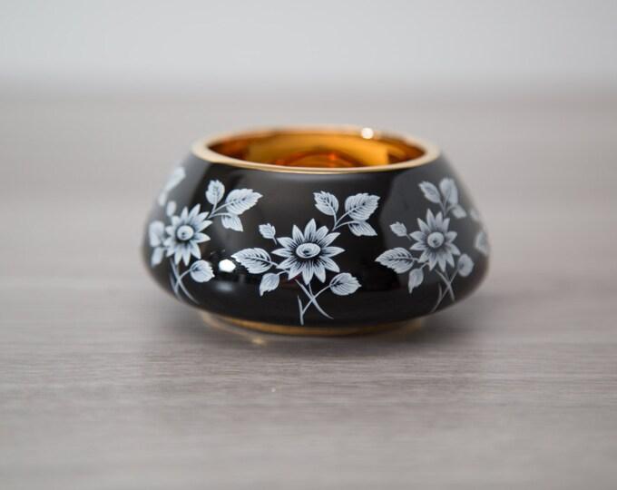 Prinknash Pottery Black and Gold Bowl