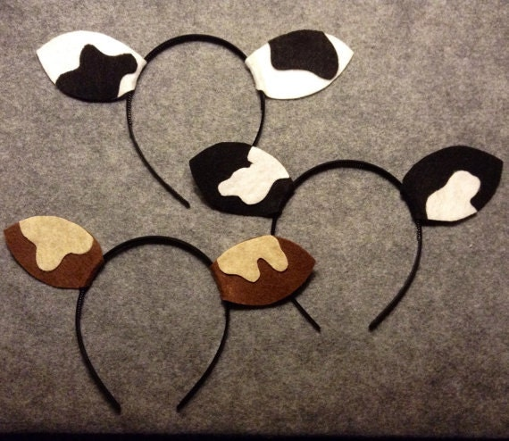 Fan image inside cow headband printable