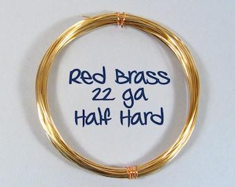 22ga 50ft HH Red Brass Wire