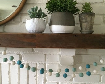 Baby Blue Felt Ball Garland