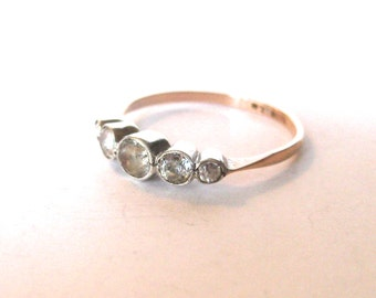 Victorian Rose Gold & Paste Ring