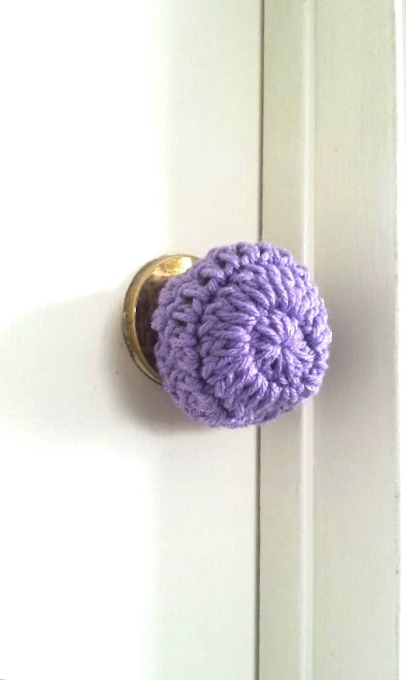 3 Crochet door knob cover child safety cover child proof