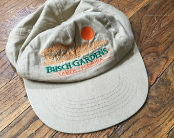 Vintage Embroidered Sunset Busch Gardens Baseball Hat