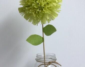 Set of 3 tissue paper pom flowers,centerpiece,baby shower,party decorations,flower pom poms,nursery decor,nursery poms,wedding centerpiece