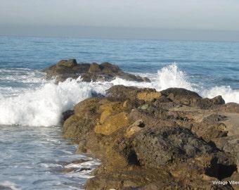 Ventura Beach Breaker Photography Instant Download, Nature Art