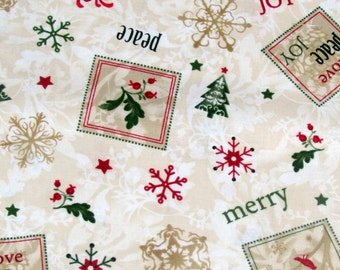 Christmas Words Fabric From Timeless Treasures