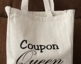 Coupon queen Couponing Canvas Tote Bag