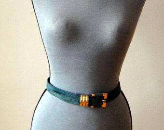 Green Belt suede / / vintage 80 s
