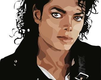 Michael Jackson Digital Art Print….