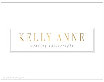 Premade Gold Foil Photography or Business Logo Design