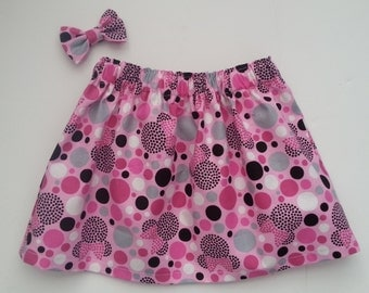 Pink Minnie Mouse Skirt and Mini bow