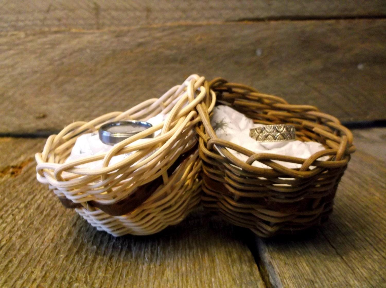 wedding ring basket rustic wedding gift wedding ring holder