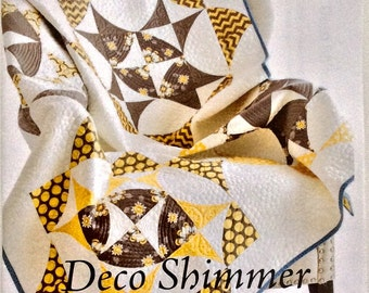 Deco Shimmer Quilt Pattern - Sew Kind of Wonderful - SKW 201 - QCR Pattern