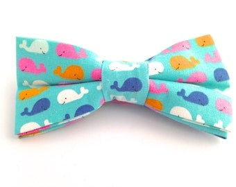 Blue Whale hair bow,  blue and pink bow, whale bow, whale hair bows, bow,blue hair bow, blue hair bows, pink hair bow, white hair bow