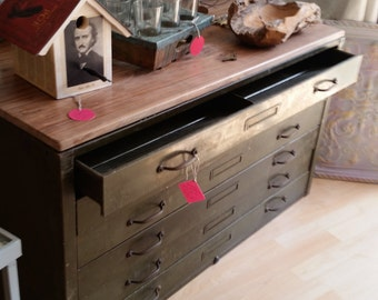 Flat File Cabinet Coffee Table/TV Table