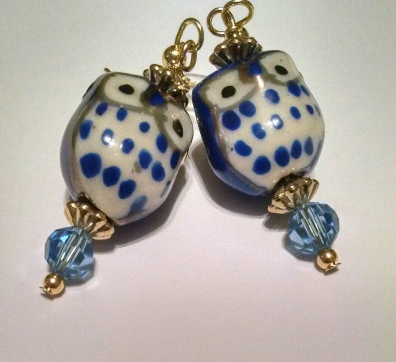 owl earrings item no 115 blue owl pink owl green owl purple