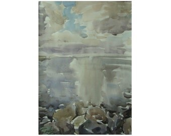 Baltic mood - original watercolor