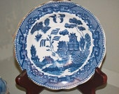 Vintage Blue Willow Berry Bowl
