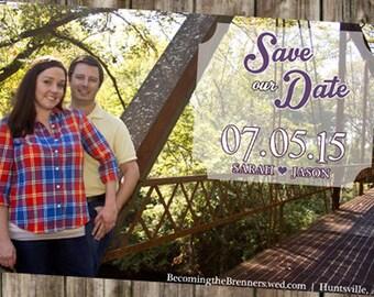 Save The Dates -  Photo background - Transparent Box