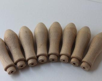 Set of 8 Wood Coat Rack Pegs